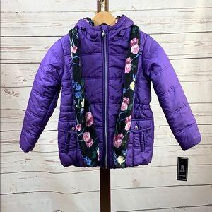 R88 by Rothschild NWT Purple Puffer Coat w/Scarf